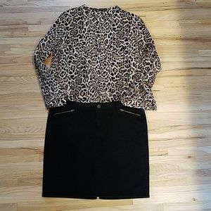 GAP Denim Skirt Black Size 14